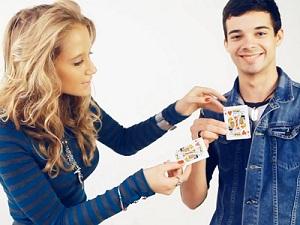 Карточный фокус двигай дырки обучение